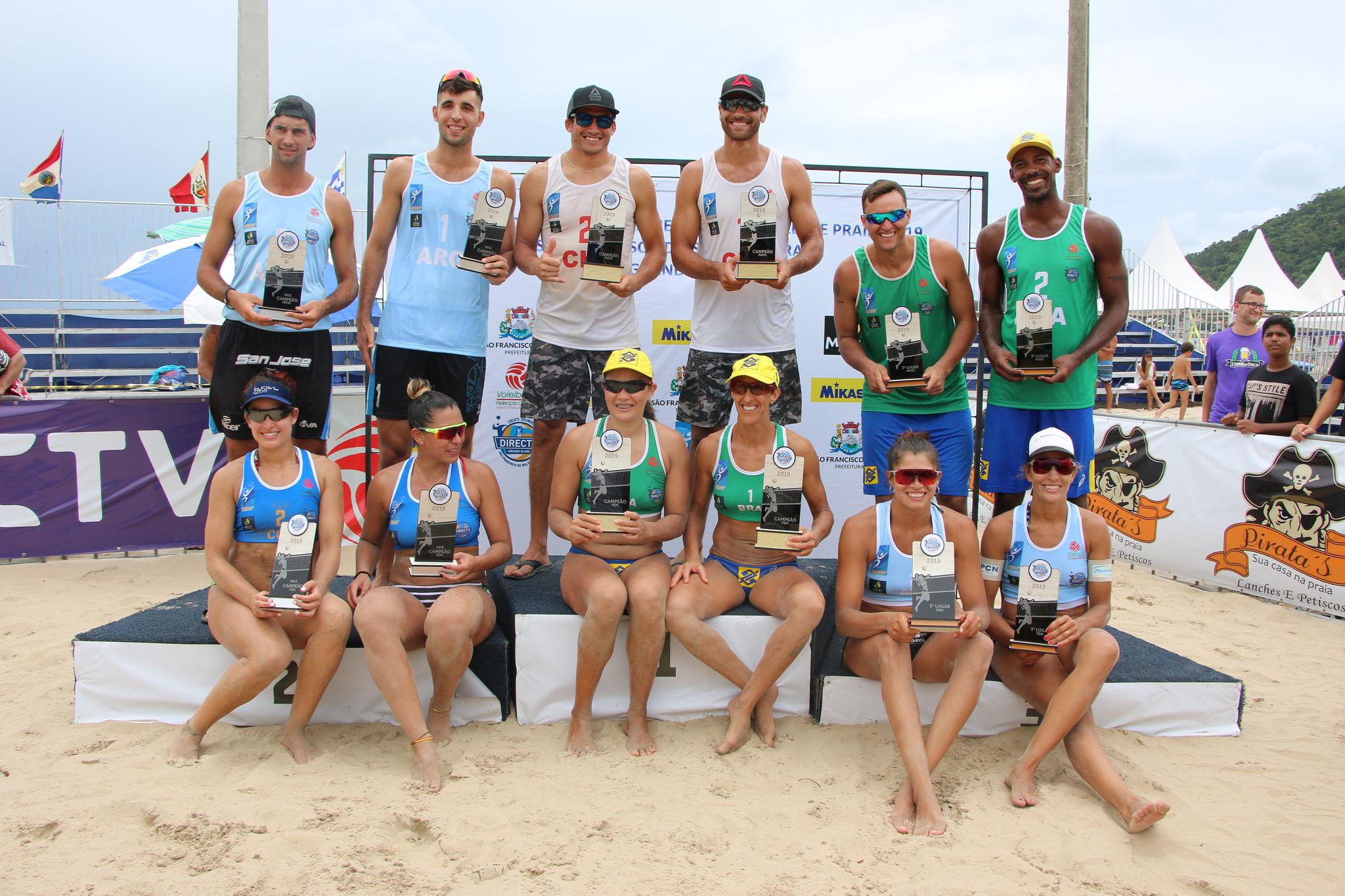 Brasil leva ouro com Josi/Neide e bronze com Thiago/George