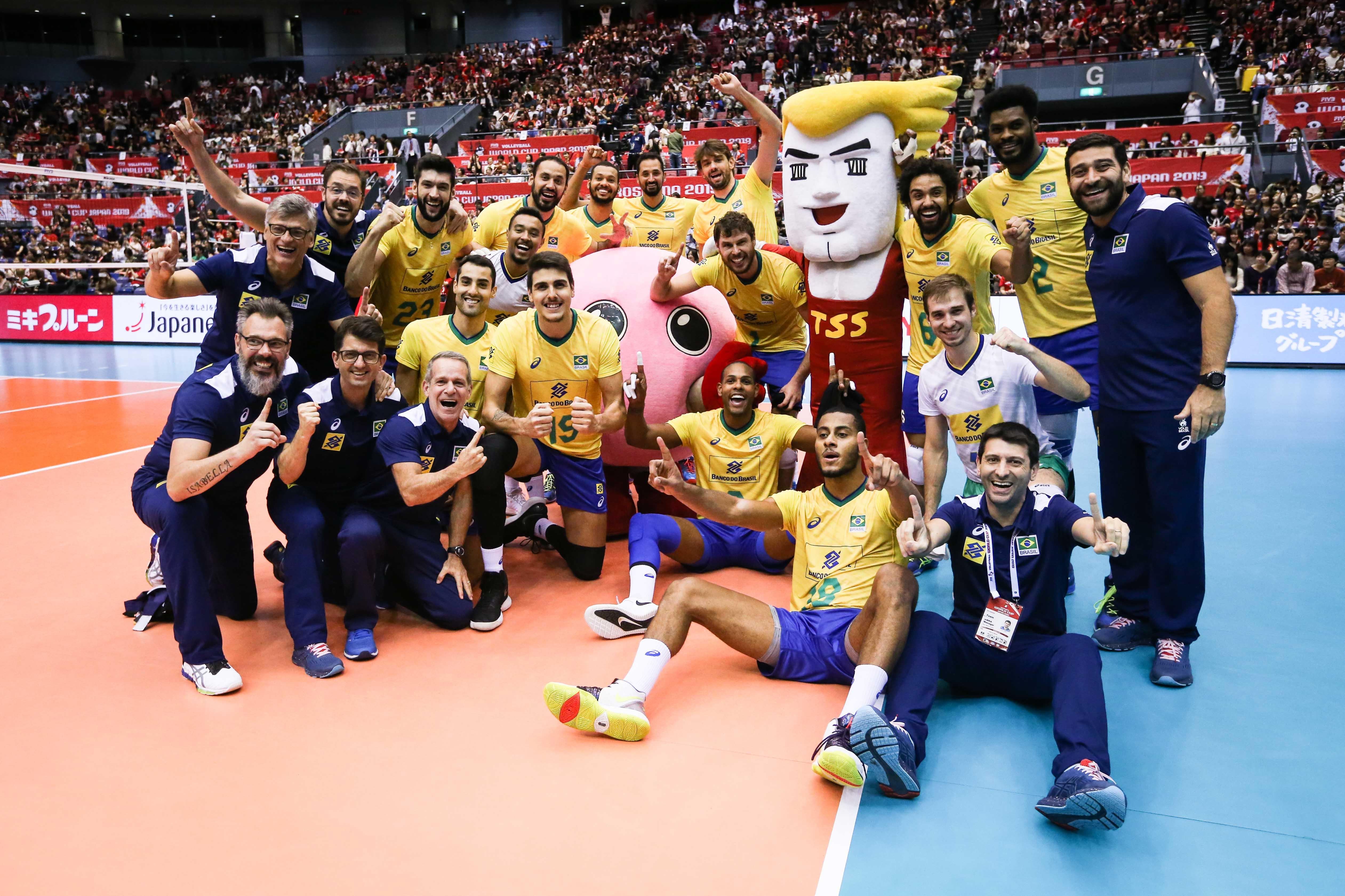 Brasil vence o Japão e é campeão com uma rodada de antecedência
