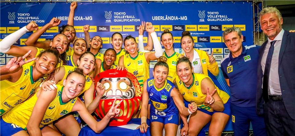 Brasil vence República Dominicana e garante vaga nos Jogos Olímpicos de Tóquio