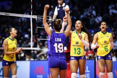 Brasil vence Tailândia e consegue oitava vitória