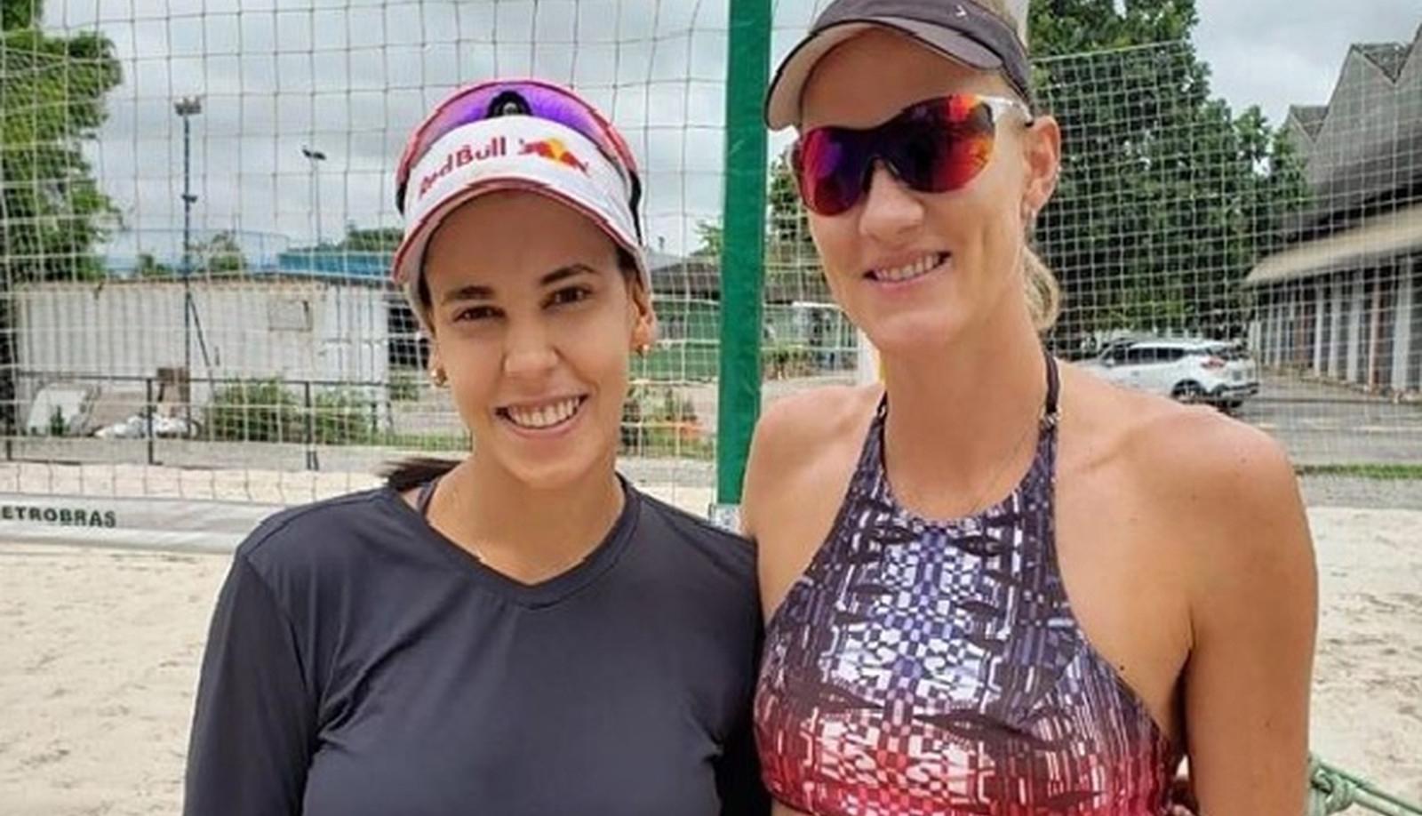 Campeã olímpica Mari estreia no vôlei de praia com Duda, em Ribeirão Preto (SP)