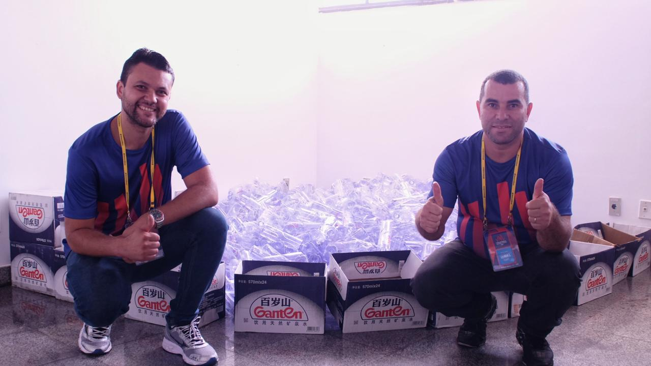 CBV promove coleta seletiva de garrafas plásticas