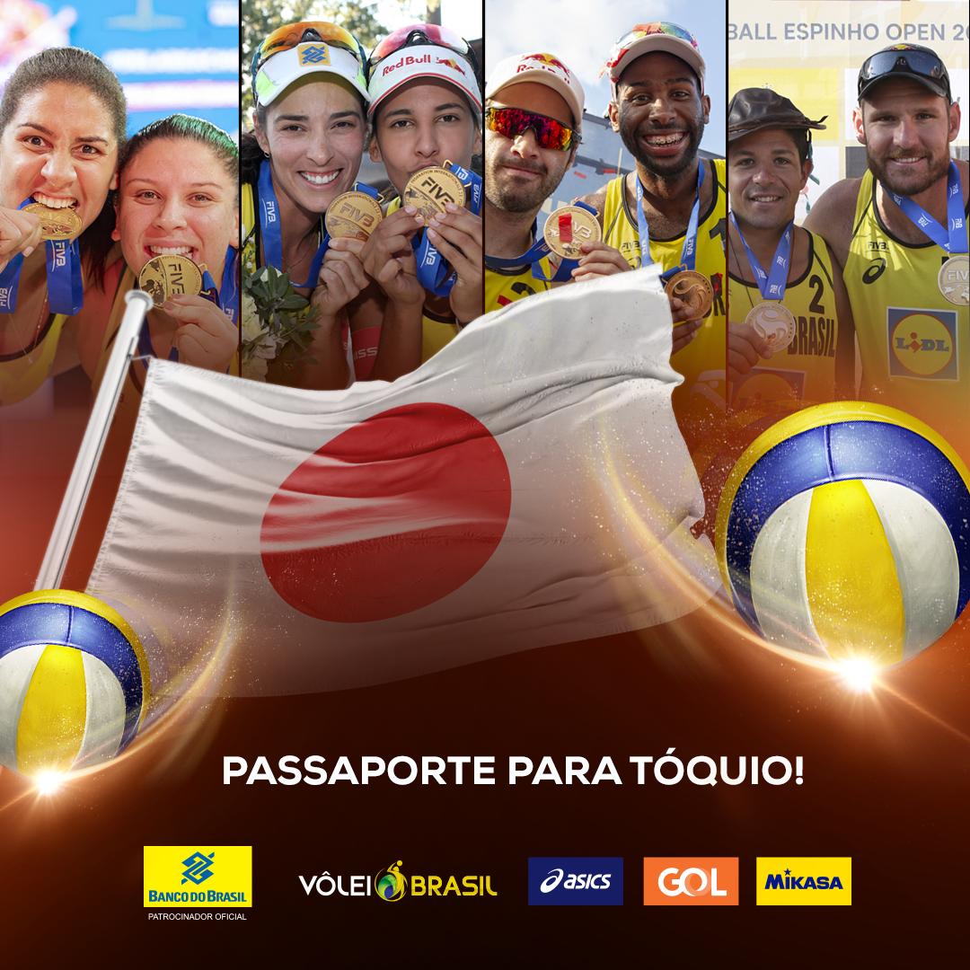 Divulgação do calendário 2020 define duplas brasileiras em Tóquio 2020