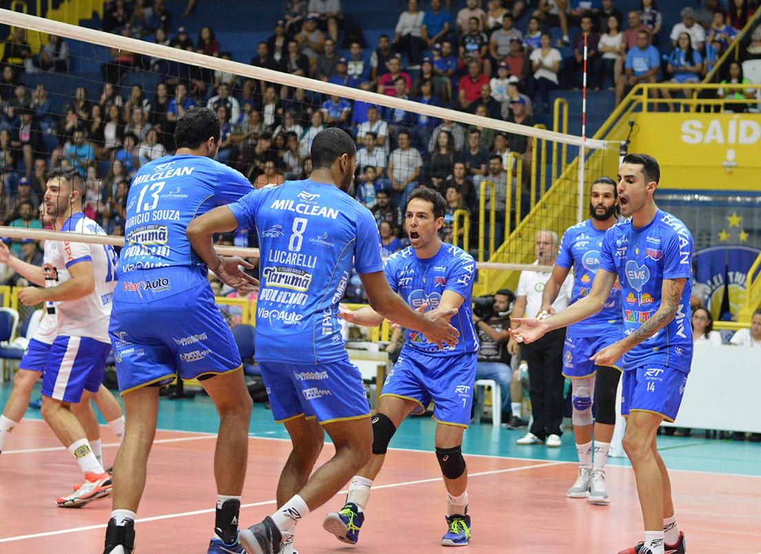 EMS Taubaté Funvic e Sada Cruzeiro fazem duelo de gigantes