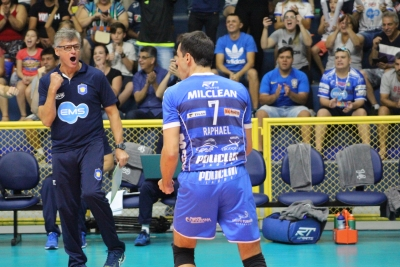 EMS Taubaté Funvic e Sesc RJ vencem na primeira rodada do playoff