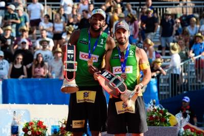 Evandro e Bruno Schmidt levam a medalha de bronze no Major de Gstaad