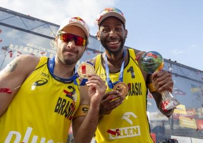 Evandro e Bruno Schmidt superam noruegueses e levam o título na Polônia