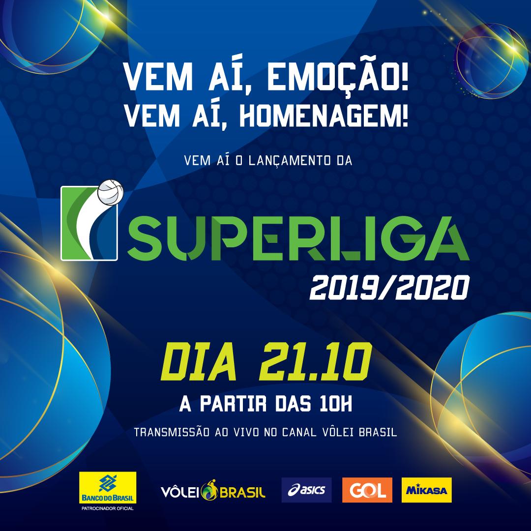 Evento de lançamento terá cobertura online pelo Canal Vôlei Brasil