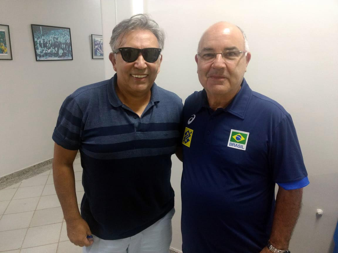 Radamés Lattari e José Virgílio Pires prestigiam primeiro dia do Vôlei Master 2019