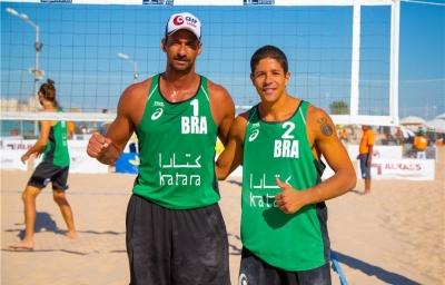 Ricardo/Álvaro Filho vence no classificatório, e Brasil terá força máxima em Doha