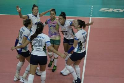 Sesc RJ vence Dentil/Praia Clube e confrontos das quartas de final são definidos