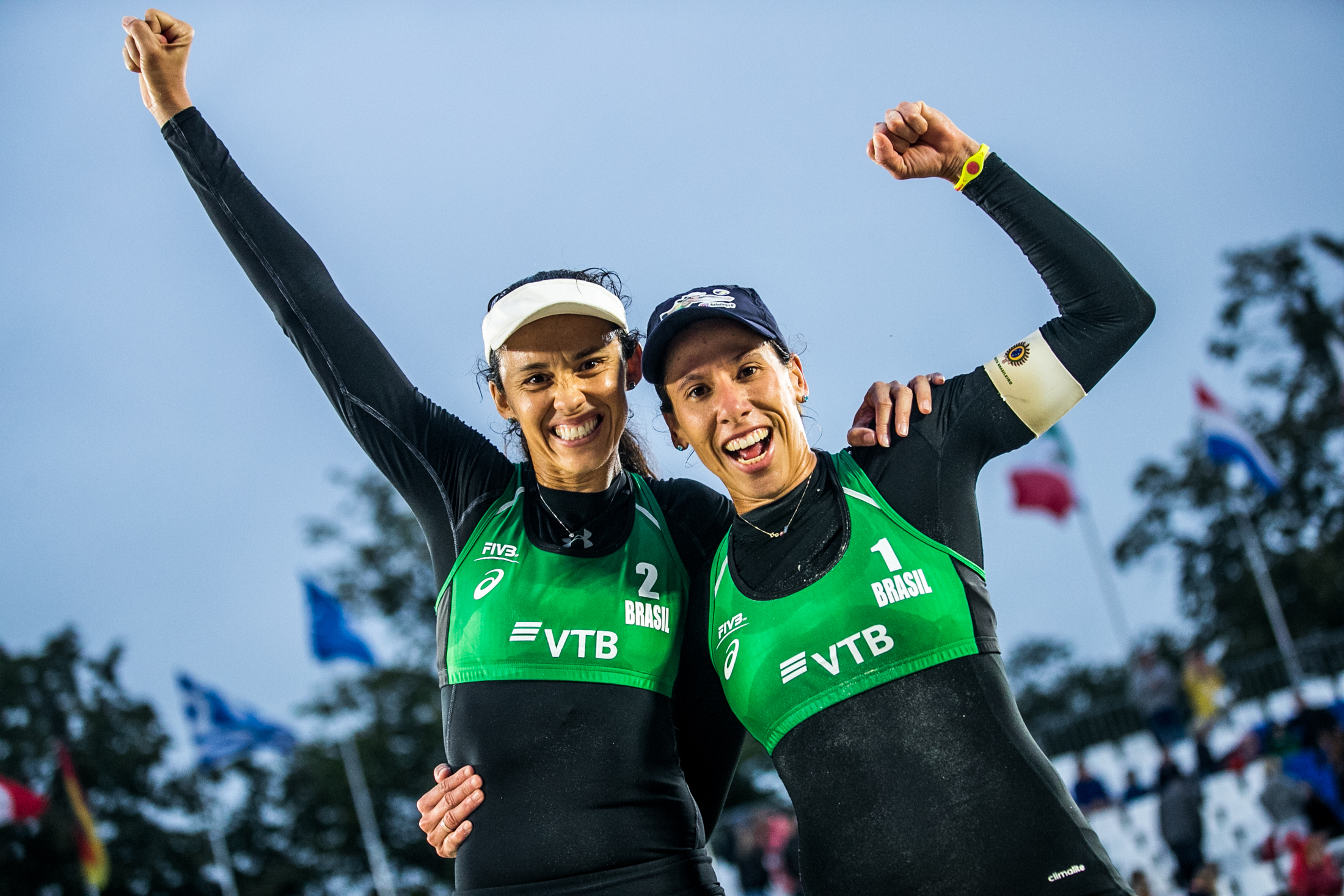 Talita e Taiana superam norte-americanas e avançam à final da etapa de Moscou
