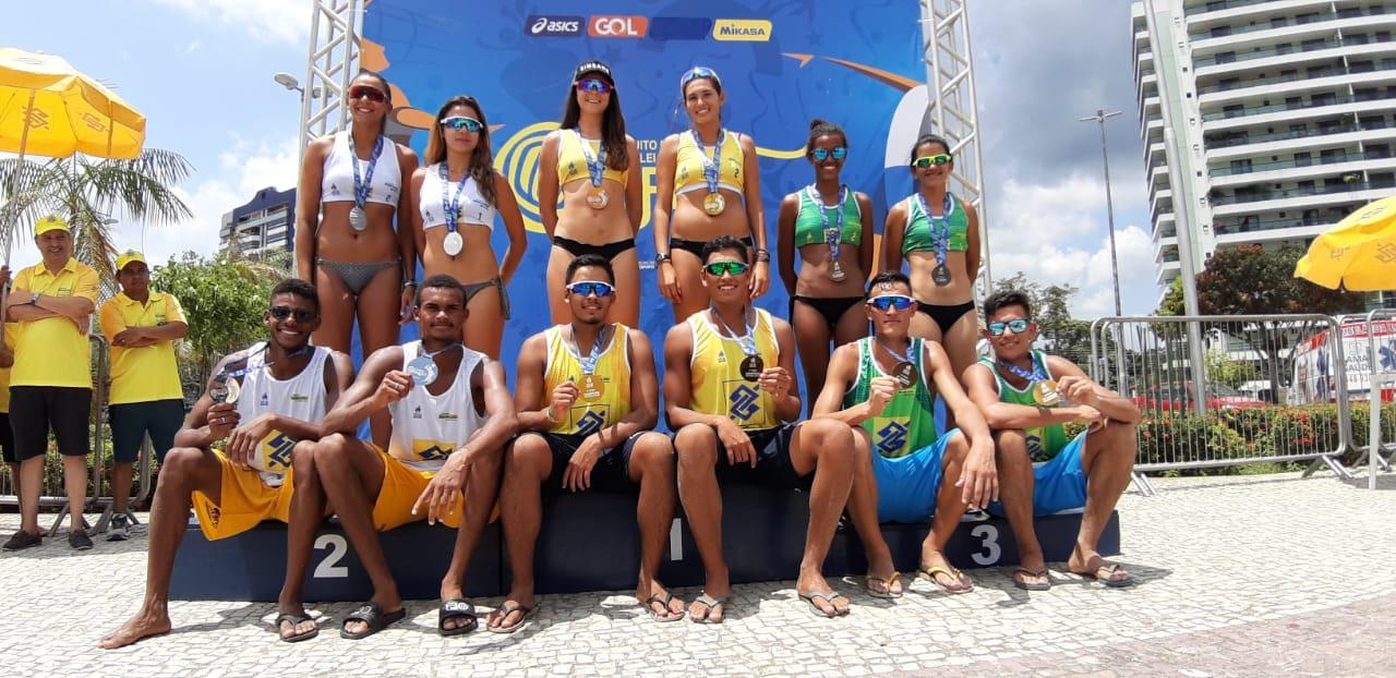 Títulos para Rafael/Renato (PB) e Vitoria/Maria Clara (RJ) em Manaus