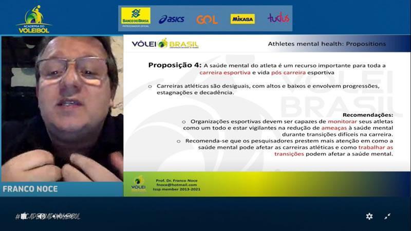 Academia do Voleibol aborda saúde mental dos atletas em seminário online