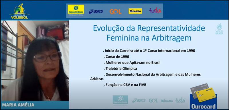 Academia do voleibol recebe árbitra internacional Maria Amélia Villas-Bôas