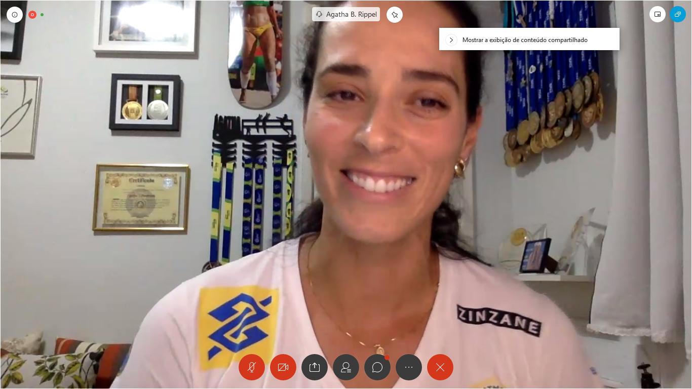 Ágatha e Alison participam de bate-papo virtual da CBV com profissionais do vôlei