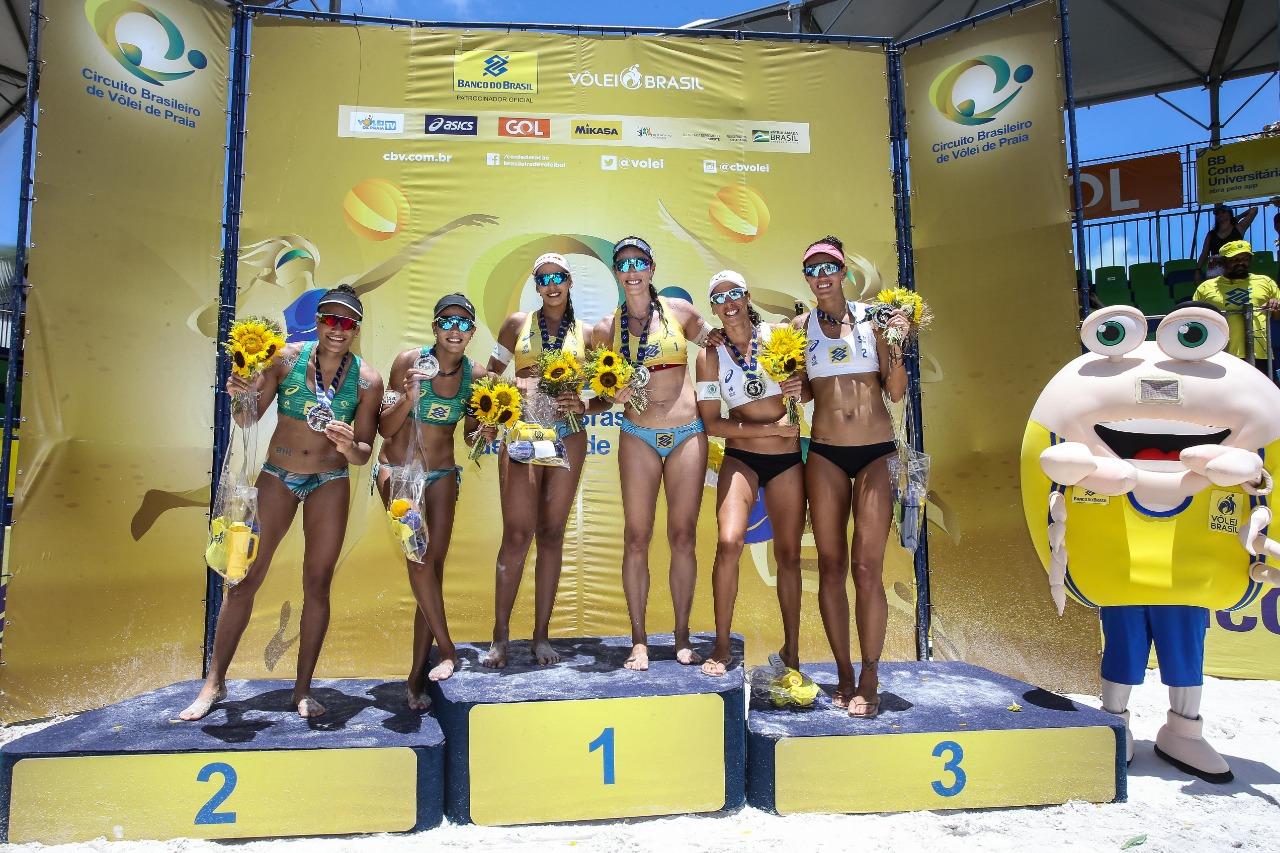 Ágatha e Duda iniciam ano especial com ouro na etapa de Maceió