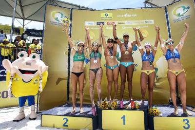 Ana Patrícia/Rebecca leva o ouro em Aracaju e fica muito perto do título geral