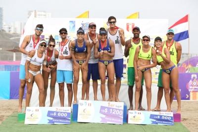 Brasil leva ouro e bronze nos torneios masculino e feminino no Peru