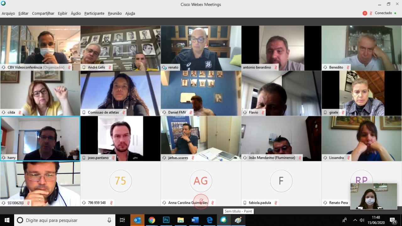 CBV e clubes se reúnem para reuniões virtuais de avaliação