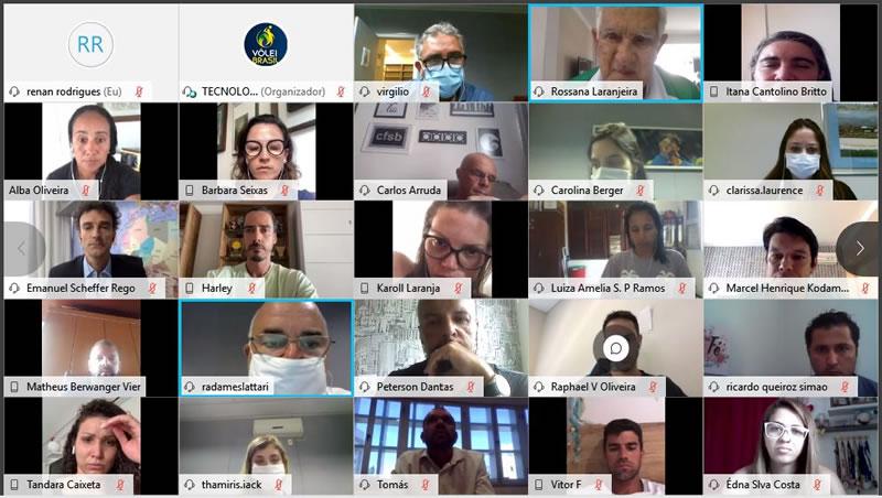 CBV e Comissão Nacional de Atletas se reúnem com Comissões Estaduais em encontro virtual