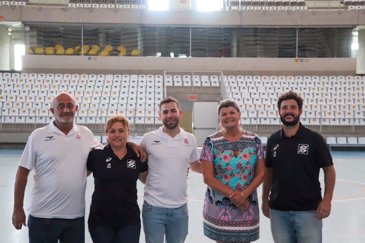 CBV e Federação Catarinense fazem vistoria em Jaraguá do Sul para realização da Copa Brasil