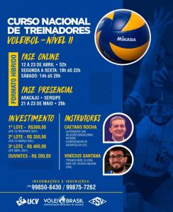 Curso de Treinadores Nível II será realizado em Aracaju no mês de maio