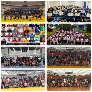 Cursos nacionais de treinadores de quadra têm a participação de mais de 280 alunos
