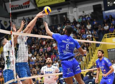EMS Taubaté Funvic e Sesi-SP vencem partidas entre os quatro primeiros colocados