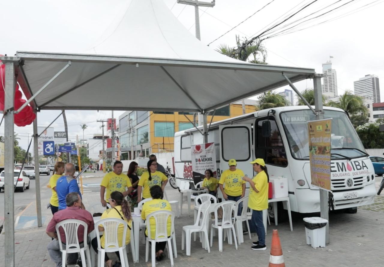 Etapa em João Pessoa promove doação de sangue e ações de saúde importantes