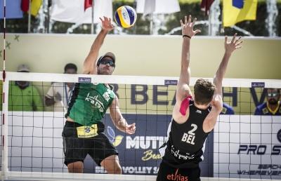 Evandro e Bruno Schmidt largam com vitórias e vão às oitavas de final em Doha
