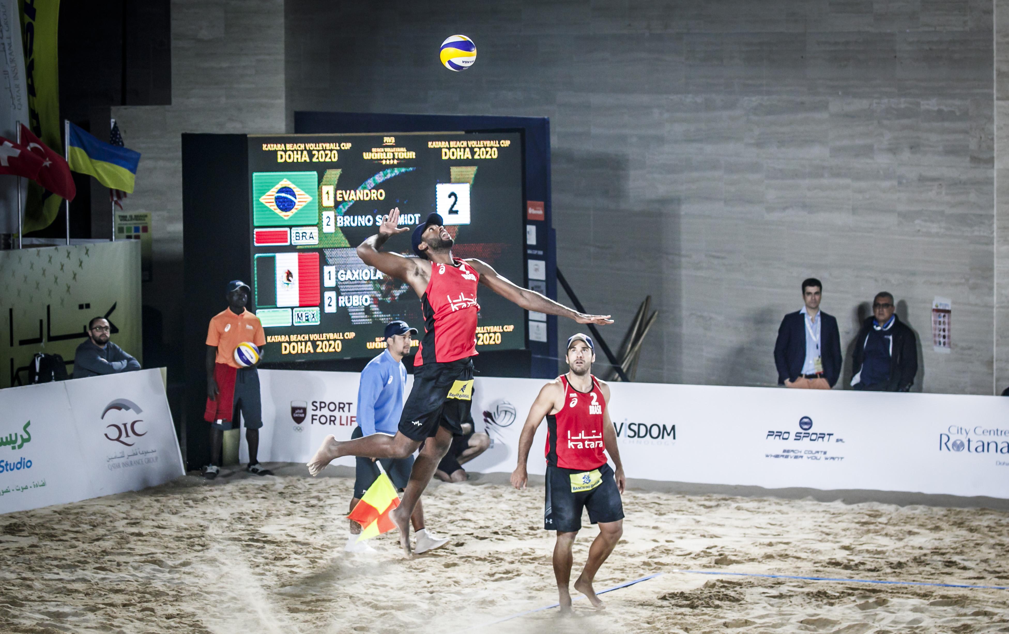 Evandro e Bruno Schmidt vão disputar o bronze na etapa de Doha