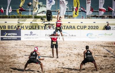 Evandro/Bruno Schmidt vence chilenos e vai às quartas de final em Doha