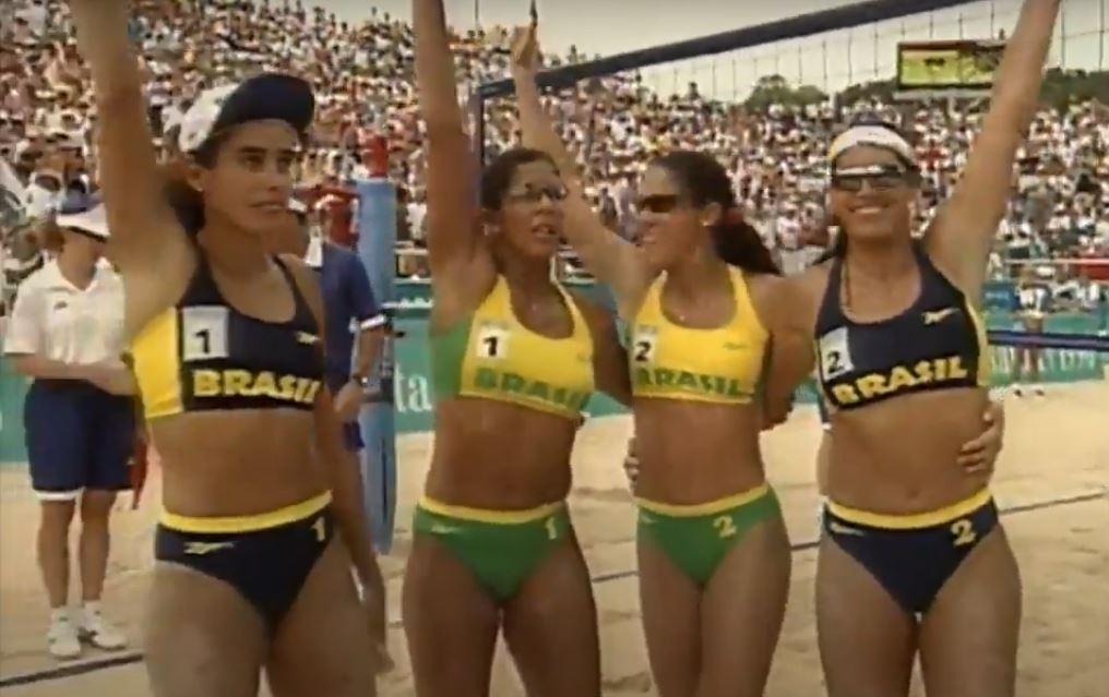 Final brasileira do vôlei de praia em Atlanta-96 é tema do programa