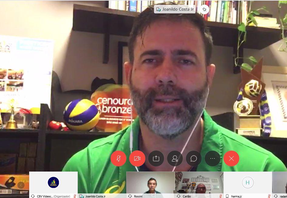 Institucionalização do vôlei de praia é o assunto em encontro virtual da CBV