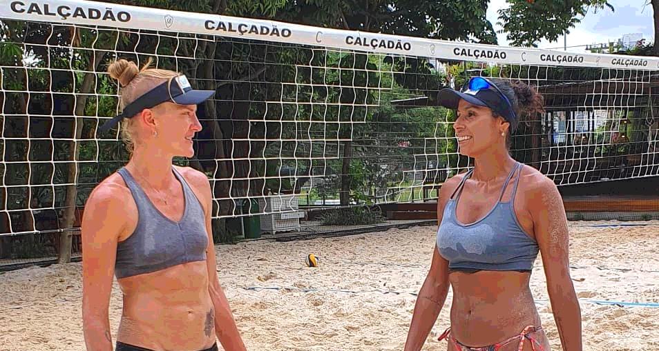 Mari e Paula Pequeno estreiam no vôlei de praia na próxima sexta, em Aracaju