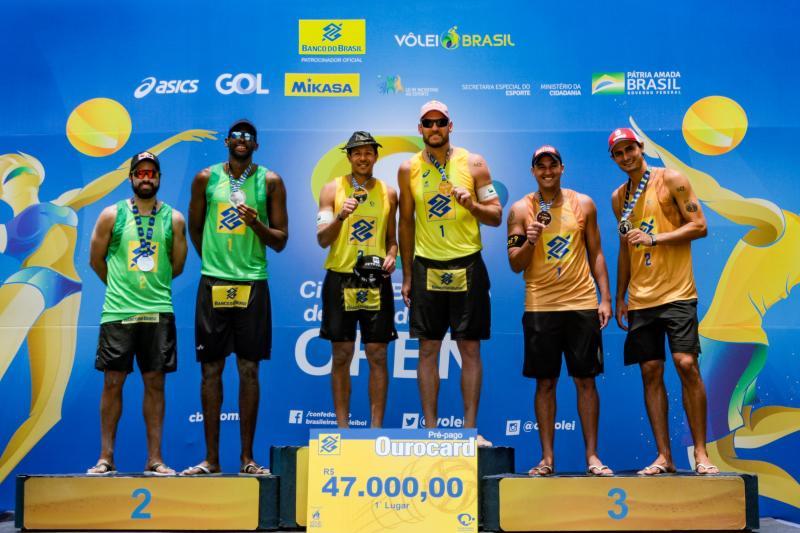 Papais olímpicos, Alison e Álvaro Filho ficam com o título em Saquarema