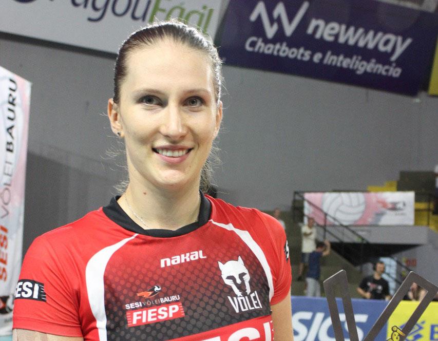 Polina Rahimova, a gringa pontuadora do Sesi Vôlei Bauru