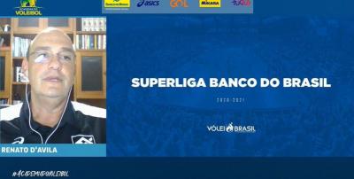 Renato D'Avila apresenta o retorno da Superliga Banco do Brasil em palestra na Academia do Voleibol