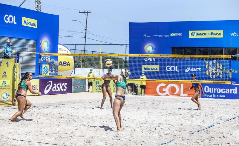 Retorno oficial do vôlei de praia brasileiro têm 16 jogos na abertura