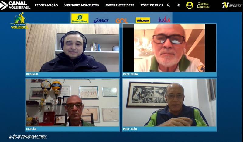 Rubinho fala sobre tendências do voleibol masculino na Academia do Voleibol
