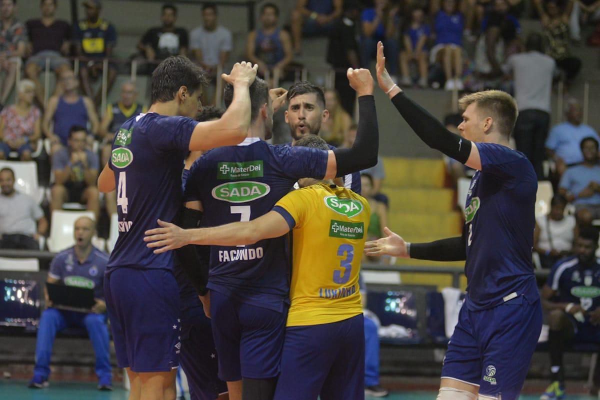Sada Cruzeiro vence Sesc RJ fora de casa e segue líder