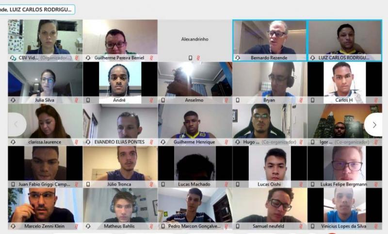 Seleção sub-19 tem encontro virtual com Bernardinho