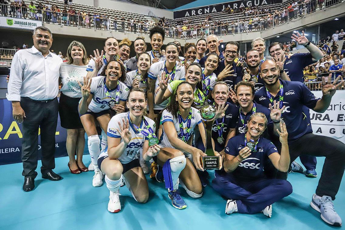 Sesc RJ vence Dentil/Praia Clube e conquista competição pela quarta vez
