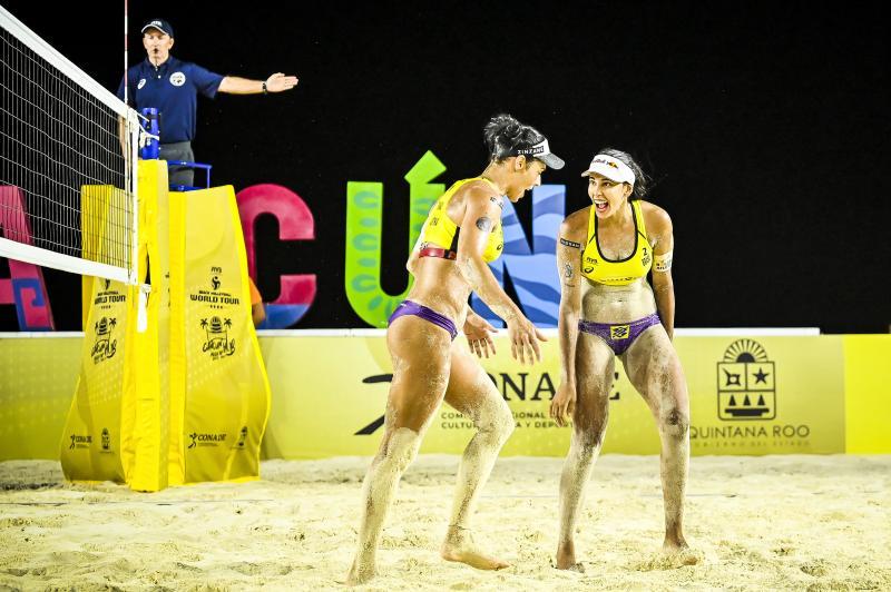 Ágatha e Duda estão na final em Cancún