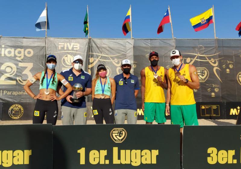 Andressa/Vitória e Oscar/Thiago ganham bronze, e Brasil conquista temporada 2020 feminina