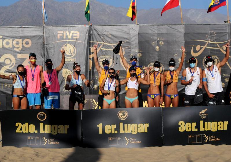 Brasil conquista ouro no masculino e bronze no feminino em Santiago