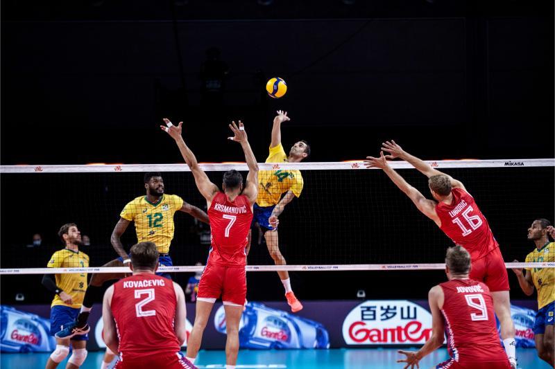 Brasil encerra segunda semana com vitória sobre Sérvia