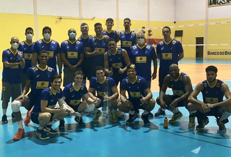 Brasil sub-21 conclui treino em conjunto com o Fiat Gerdau Minas antes de embarcar para o mundial