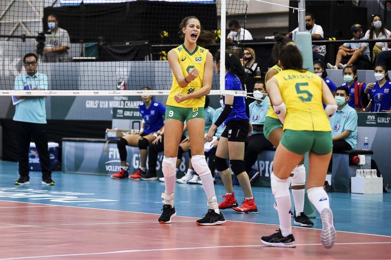 Brasil vence Tailândia está nas quartas de final